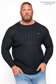 BadRhino Black Essential Cable Knitted Jumper