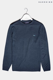 BadRhino Navy Essential Knitted Jumper