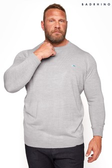 BadRhino Grey Essential Knitted Jumper