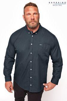 BadRhino Navy Cotton Poplin Long Sleeve Shirt