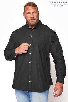 BadRhino Black Essential Long Sleeve Oxford Shirt