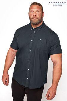 BadRhino Navy Essential Short Sleeve Oxford Shirt