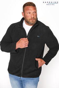 BadRhino Black Essential Zip Through Fleece