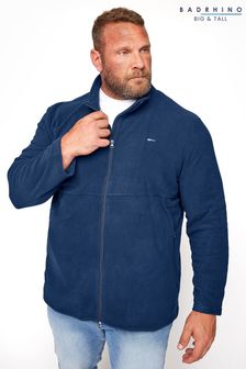 BadRhino Navy Essential Zip Through Fleece