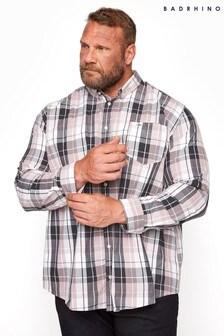 BadRhino Pink Cotton Check Shirt