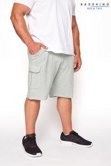 BadRhino Grey Essential Cargo Jogger Shorts