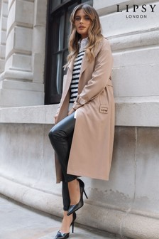 Lipsy Neutral Belted Trench Coat
