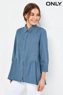 Only Light Medium Blue Denim Shirt