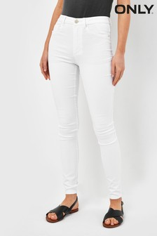 Only White High Waist Skinny Jeans