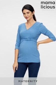 Mamalicious Maternity Wrap Jersey Top