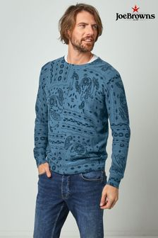Joe Browns Blue Paisley Print Knit