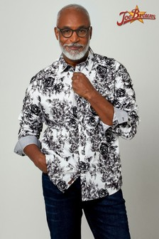 Joe Browns White Superb Sketch Shirt