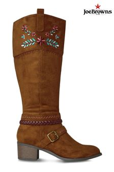 Joe Browns Brown California Dreams Embroidered Boots