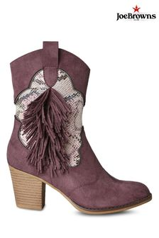 Joe Browns Purple Fabulous Weekend Boho Boots