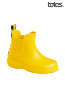 Totes Yellow Toddler Chelsea Rain Wellie Boot