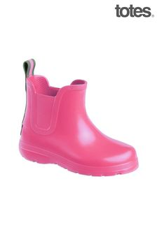 Totes Pink Toddler Chelsea Rain Wellie Boot