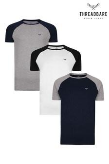 Threadbare Navy T-Shirts Pack Of 3
