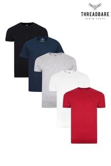 Threadbare Multi Core T-Shirts 5 Multi Pack