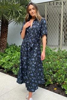 Lipsy Ditsy Floral Maxi Shirt Dress