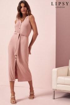 Lipsy Pink Sleeveless Cardigan Dress