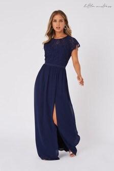 Little Mistress Navy Sonja Navy Lace Maxi Dress