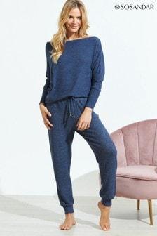 Sosandar Navy Super Soft Loungewear Joggers Co-Ord