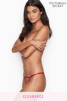 Victoria's Secret Red Strappy Cheekini Panty