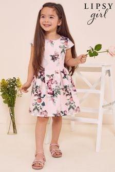 Lipsy Pink Floral Mini Scuba Dress