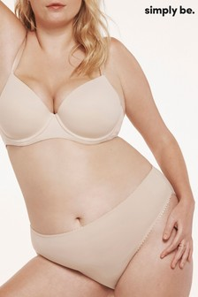 Simply Be Nude Six Nude Feather Touch Barely-There T Shirt Bra [Mould]
