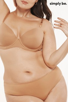 Simply Be Nudefour Nude Feather Touch Barely-There T Shirt Bra [Mould]