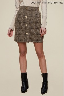 Dorothy Perkins Multi Tweed Button Through Skirt