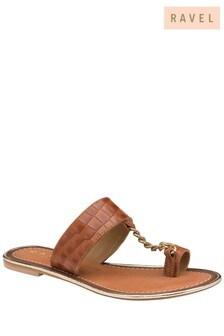 Ravel Brown Toe Loop Sandal