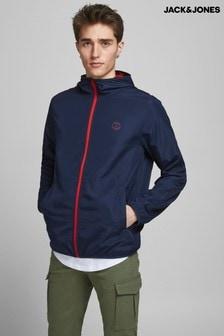 Jack & Jones Navy Blazer Zip Up Contract Jacket
