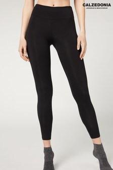 Calzedonia Black Leggings With Silk