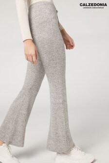 Calzedonia Grey Comfort Flare Leggings