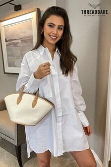 Threadbare White Sheila Oversized Shirt Dress