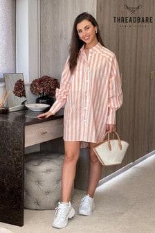 Threadbare peach Sheila Oversized Shirt Dress