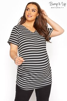 Bump It Up Black Stripe Short Sleeve T-Shirt
