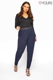 Yours Blue Curve  26 inch Tapered Trousers
