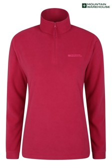 Mountain Warehouse Pink Camber Womens Half-Zip Fleece