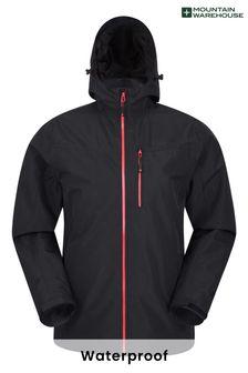 Mountain Warehouse Black Brisk Extreme Mens Waterproof Jacket