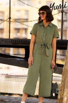 Yumi Green Military Jumpsuit