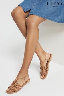 Lipsy Brown Strappy Gladiator Sandal