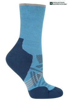 Mountain Warehouse Blue Lightweight Merino Womens Breathable Walking Socks