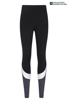 Mountain Warehouse Grey Core Sculpted High Waisted Womens Sports Leggings