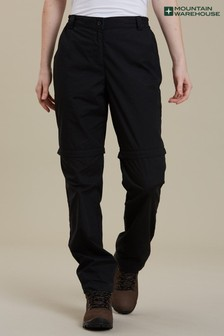 Mountain Warehouse Black Quest Womens Zip-Off Hiking Trousers
