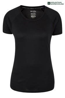 Mountain Warehouse Black Endurance Womens Lightweight Breathable T-Shirt