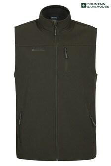 Mountain Warehouse Khaki Grasmere Mens Water Resistant, Fleece Lined Gilet