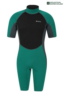 Mountain Warehouse Green Mens Shorty Neoprene Wetsuit