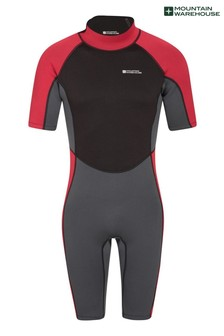 Mountain Warehouse Grey Mens Shorty Neoprene Wetsuit